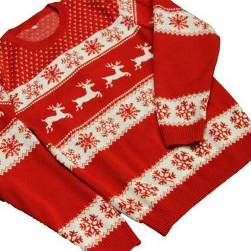 Raudonas Kalėdinis Megztinis Vyrams