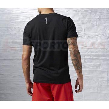 Reebok Juodi Marškinėliai Vyrams Digital Reebok